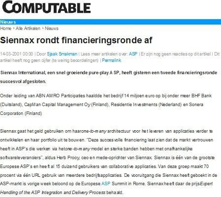 Strategische positionering Siennax als ASP
